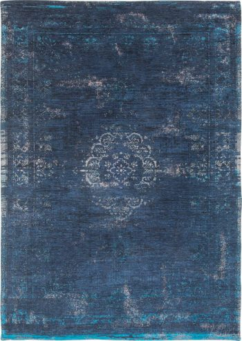 tapis Louis De Poortere AV 8254 Fading World Medaillon Blue Night